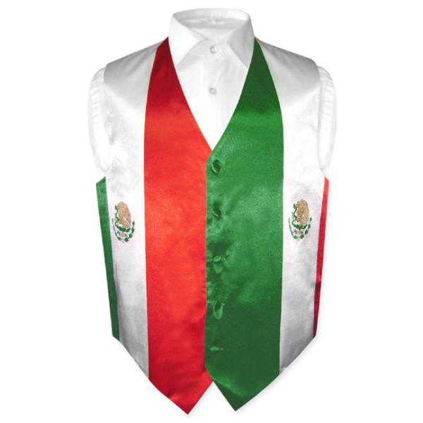 Mexican flag waistcoat 100% polyester