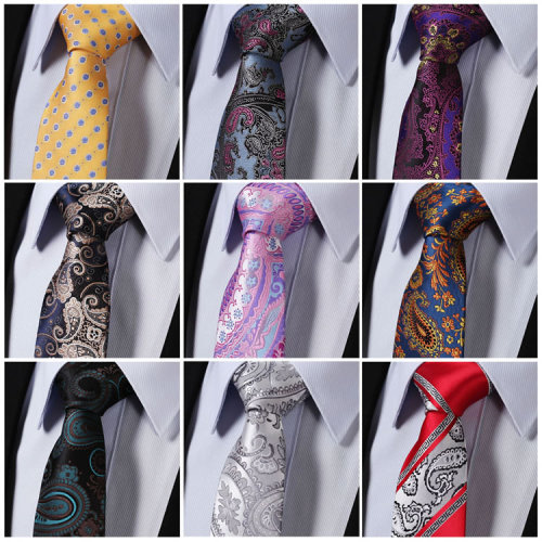 Hot sale woven jaquard 2019 famous fashion silk ties