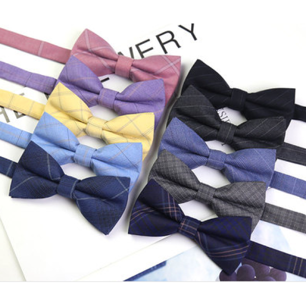 custom yellow polyester fashion colorful bowties