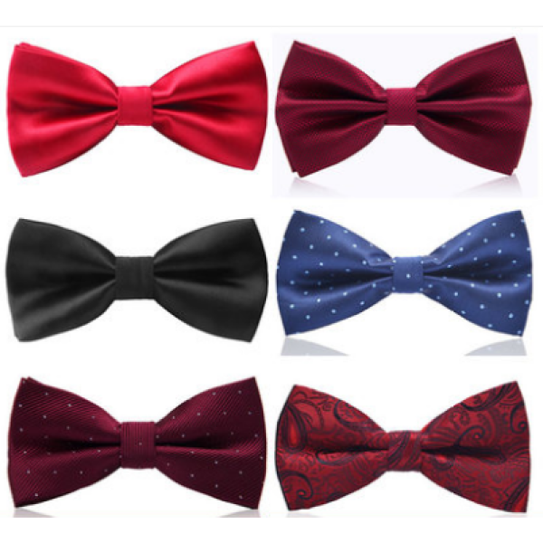 Mens 100% silk woven high quality bow tie