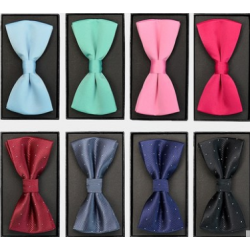 Fashion polyester satin men bowties