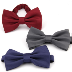 Fashion hand made wedding polyester men bowtie Oem bowtie manufacturers