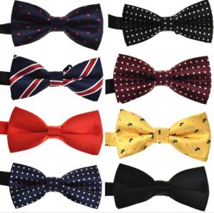 Custom Printing High Quality Elegant Pre-tied Men's Bowtie Set Wedding Polyester BowTie for Men