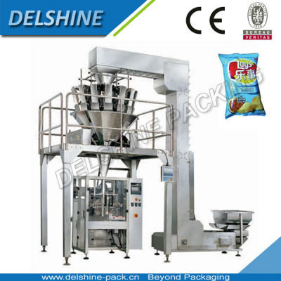 Full Automatic Potato Chips Packing Machine With 10 Heads Weigher