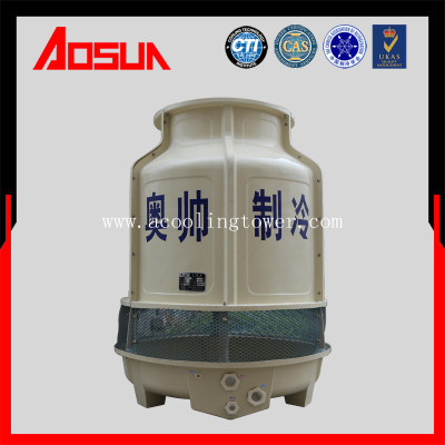 20T/h round plastic and frp low noise wet cooling tower