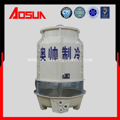 15T/h round plastic and frp high temperature cooling tower