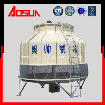 125T round low noise plastic and frp cooling tower price