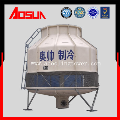 100T round low noise plastic and frp counter-current cooling tower