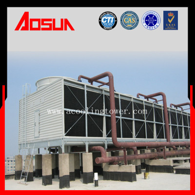 100T Square Cross-Flow Light Weight Of SS Cooling Tower Philippines With Water Treatment System
