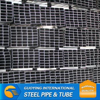 SS330 astm Gr.B HDG erw welded Rectangular Steel Pipe manufacturer for construction