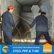 BS1387 hot rolled galvanized tube