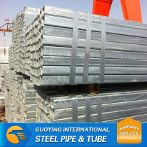 hot dip galvanized ms hollow section rectangular pipe