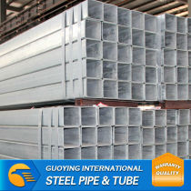 HDG erw welded Square Steel Pipe astm Gr.B manufacturer for construction