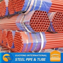 ASTM 48mm ERW painted MS Scaffolding 3.5 inch steel pipe