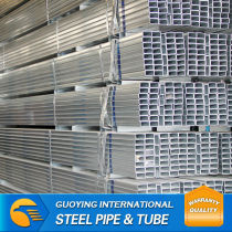 10*20-50*100mm Q195 gi tube hollow metal pipe made by Factory Outlet