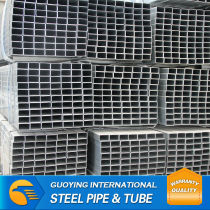 Q235 25*40*1.5mm RHS ERW Carbon steel pipe galvanized square hollow section packaging in bulk vessel or container