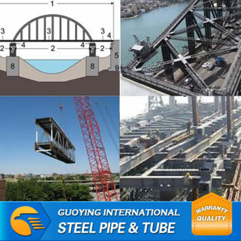 MS ERW welded black steel tube Japan for bridge structure