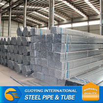 GALV PIPE pipe pre-galvanized square pipe mild steel pipe SHS for Building