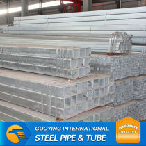 ERW SHS HDG steel pipe price for construction