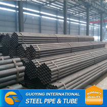 Black erw ms pipe for building manufacture from tianjin China