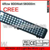 12 month guarantee Cree 800W four row led offroad light bar
