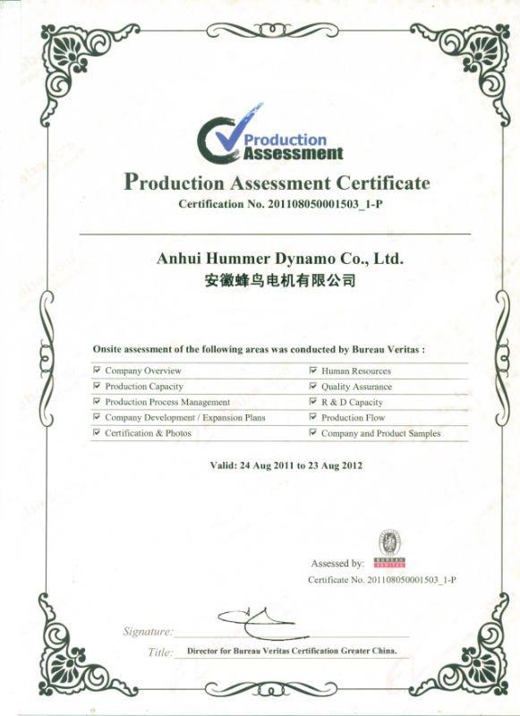 004BV Certificate