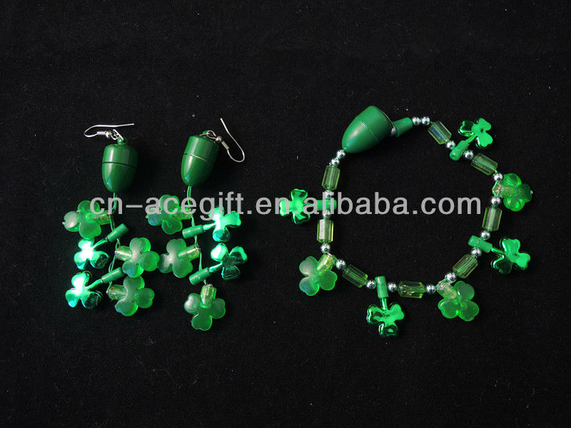light up christmas earrings,shamrock led flashing earrings - china ...