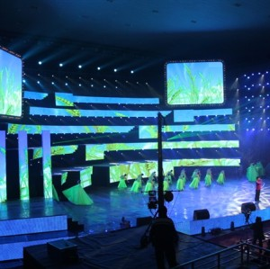 P16mm Curtain Mesh Rental LED Display