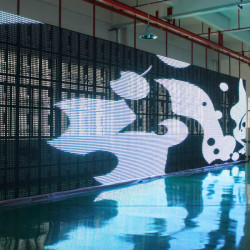 P31.25mm Curtain Mesh Rental LED Display