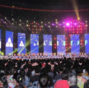 P6.944mm Outdoor Curtain Mesh LED Display