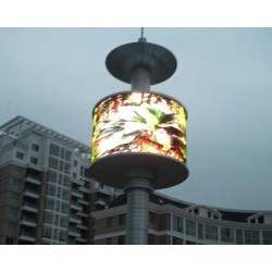 P5mm Full Color Cylindrical LED Display for Advertising