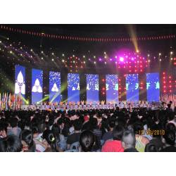 HD Outdoor Curtain Mesh LED Screen for background Stage
