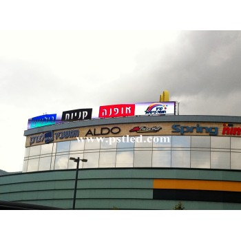 Outdoor Housetop LED Display For Advertising in Haifa City