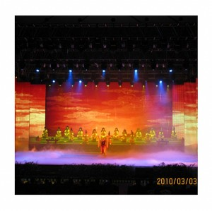 P20mm Curtain Mesh Rental LED Display