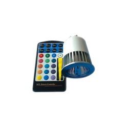 E27 3W LED Spot Light Remote Control