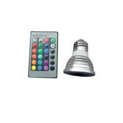 E27 3W LED Spot Light Remote Control