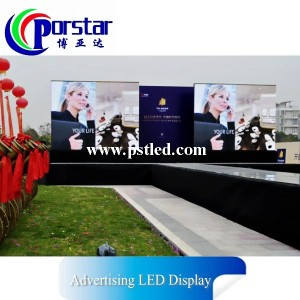 Waterproof P8.928mm SMD3535 Outdoor Curtain Mesh LED Display