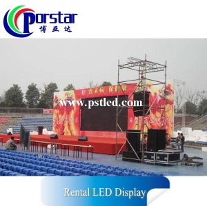 outdoor full color TV show background rental led video wall screen