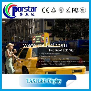 taxi led topper sign