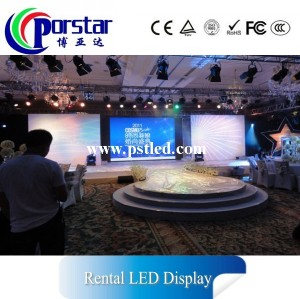 super slim high definition rental led display