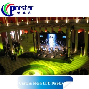 stage used led curtain display video screen