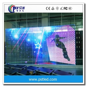 New design transparent led rgb glass window display screen glass led screen