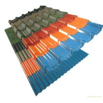 Metal roofing building material made by prepainted aluminium steel coil