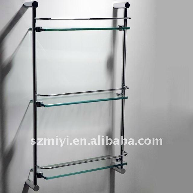 metal bathroom 3 tier glass shelf 3 tier glass shelf. Black Bedroom Furniture Sets. Home Design Ideas