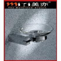 bathroom round glass soap dish holder