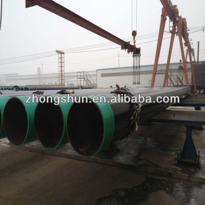 SSAW steel pipe/tube with 3PE coating