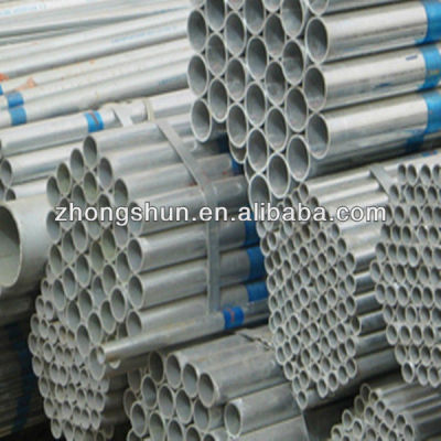Hot rolled pre- galvanized steel pipe for structure using