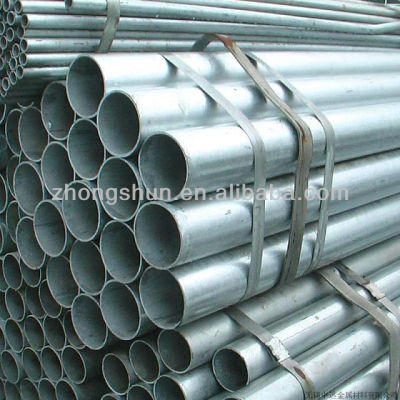Hot Dipped Galvanized ERW Steel Pipes ASTM A53 Grade B