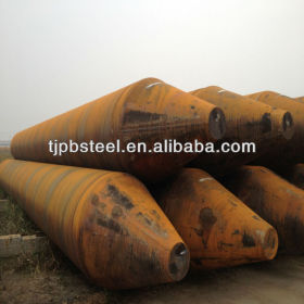 Spiral SAW steel pipe with pile shoes for piling works