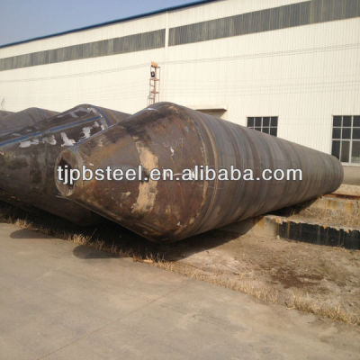 A252 Spiral SAW steel pipe with pile shoes for piling works